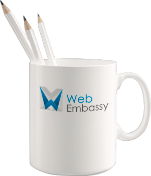 Branded cup in corporate style