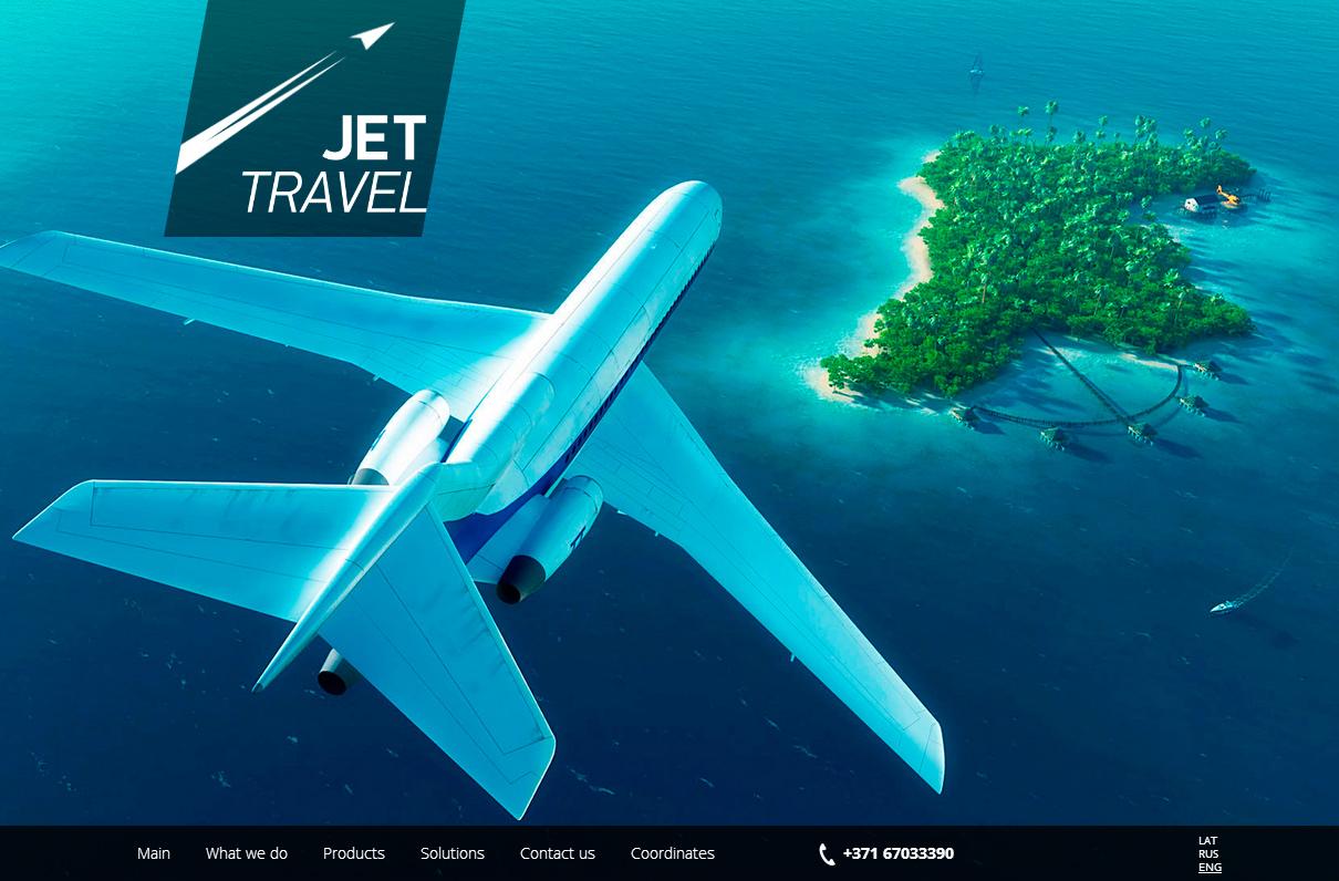 Создание сайта для авиационной компании JET Travel