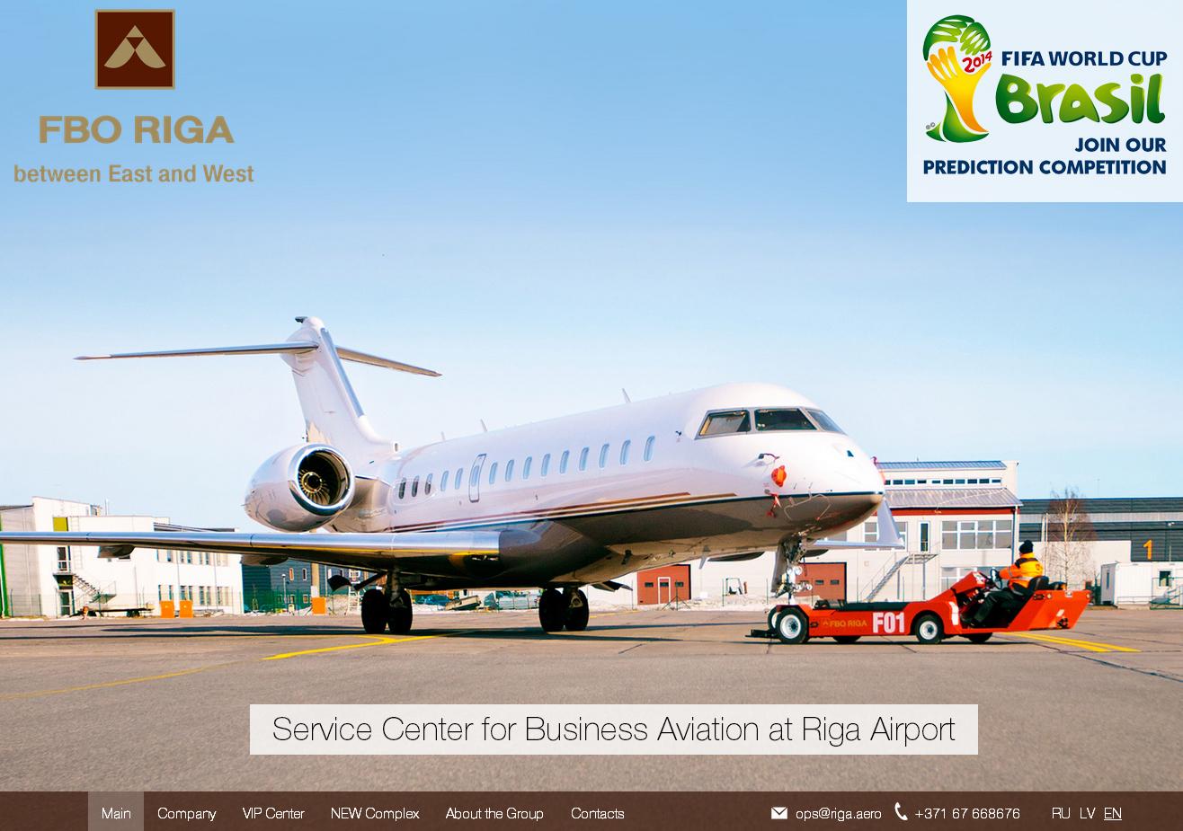 Создание презентационного веб сайта для рижского центра бизнес-авиации FBO RIGA
