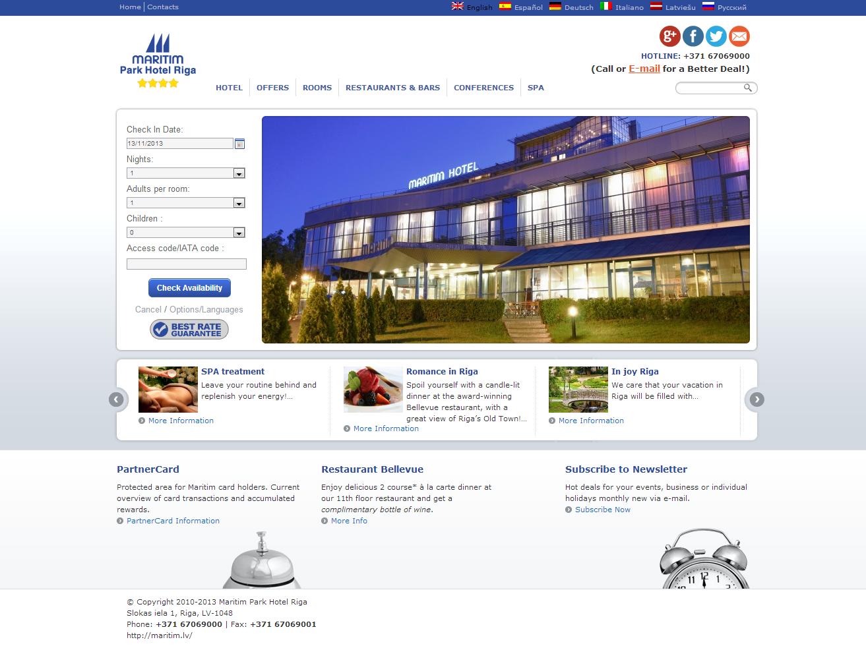 Поисковая оптимизация (SEO optimization) и SEF оптимизация для веб-сайта Maritim Park Hotel