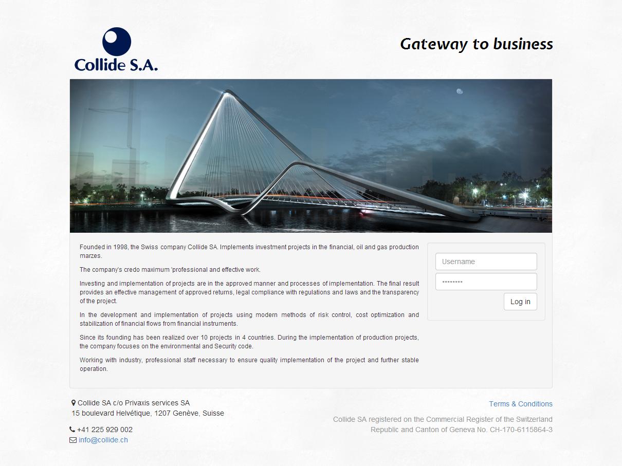 Веб-сайт финансовой компании. Разработана CRM система и система документооборота