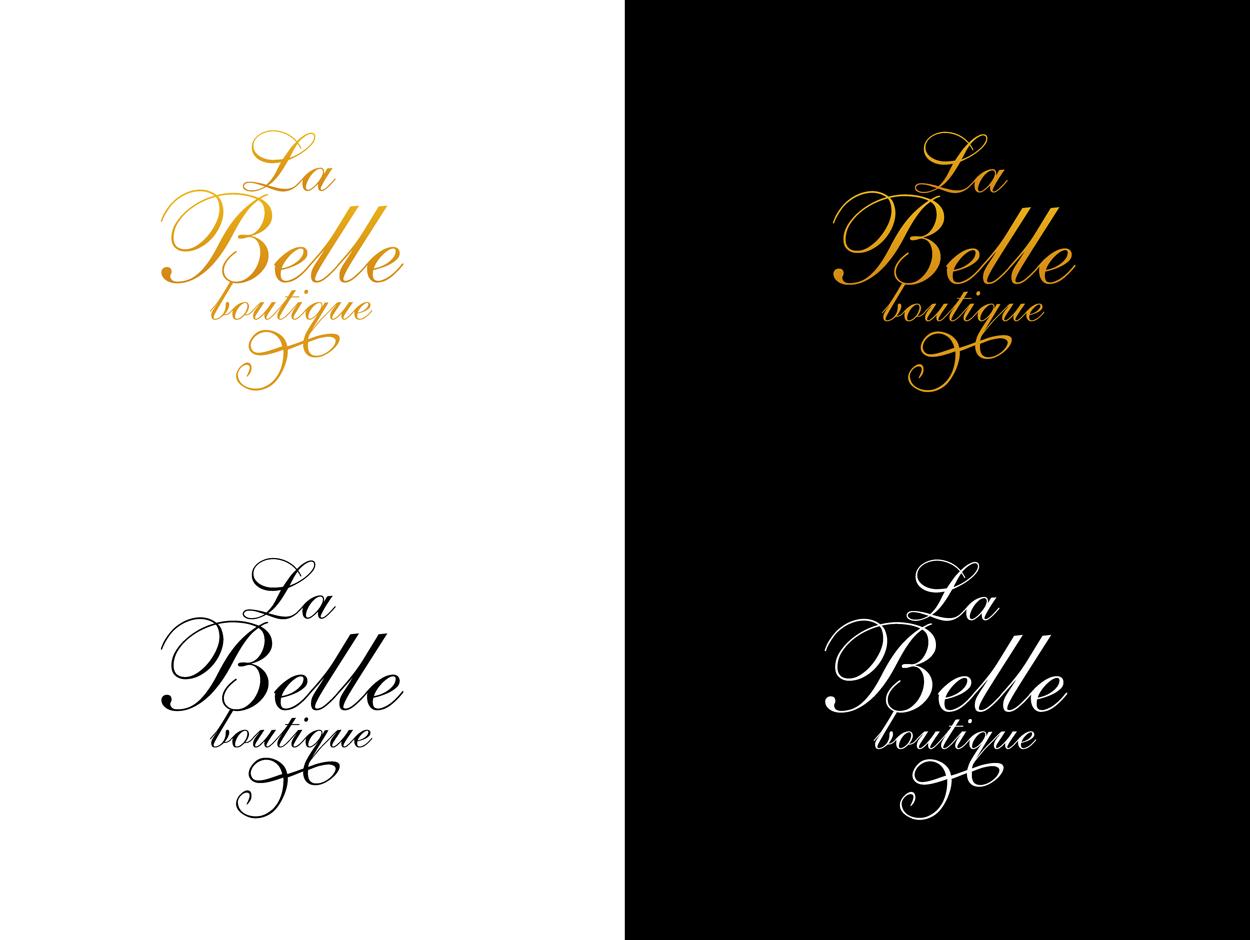 Разработка логотипа для английского салона красоты La Belle