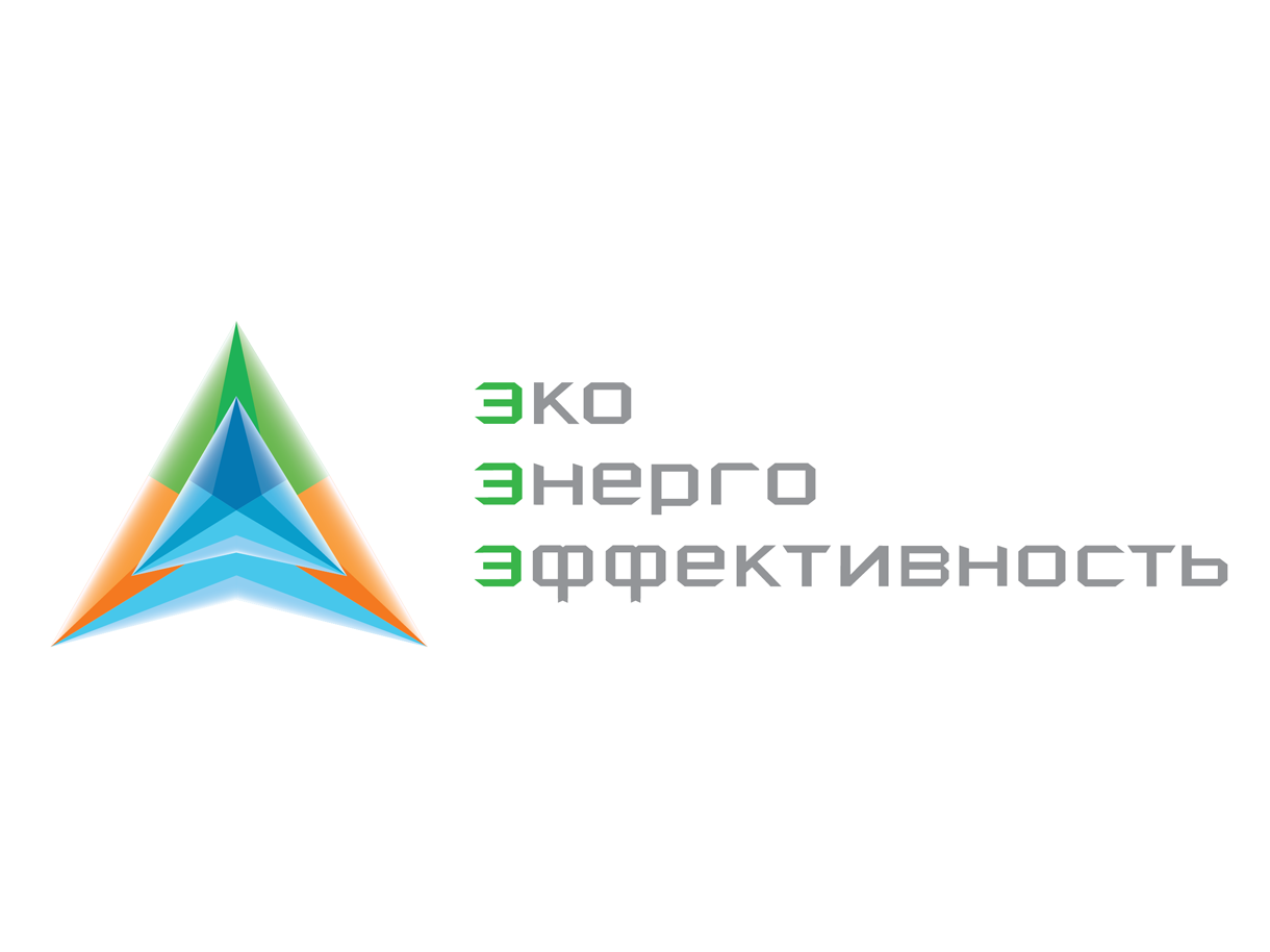 Разработка логотипа для компании Eco Energy Efficiency. Создан стиль, форма, цветовое решение