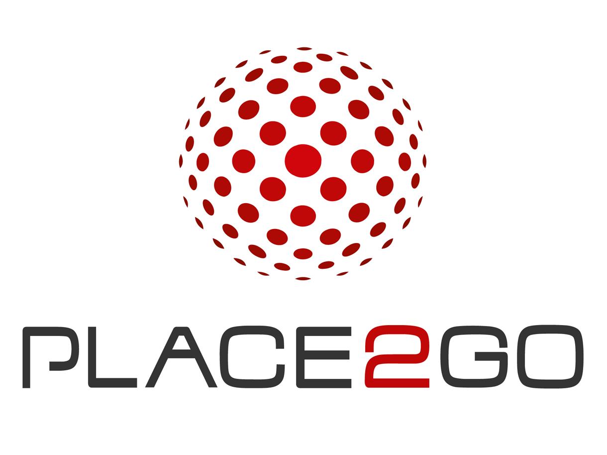 Создание логотипа для медиа компании Place2GO. Разработаны стиль, форма, цветовое решение