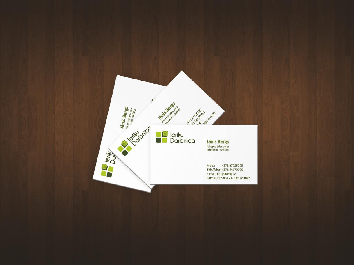 Создание брендбука компании Ieriķu Darbnīca. Компоненты брендбука - логотип, корпоративный стиль